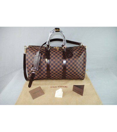 LOUIS VUITTON DAMİER CANVAS VEJITAL DERI VALIZ 55X25 CM
