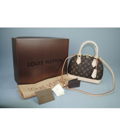 Louis vuitton mini MONOGRAM CANVAS ALMA %100 HAKIKI VEJITAL DERI