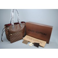 LOUIS VUITTON DAMIER CANVAS NEVERFULL PM VEJITAL DERI KÜÇÜK BOY