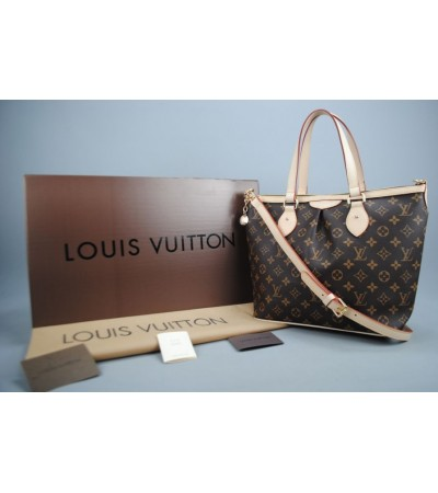 LOUIS VUITTON DAMIER CANVAS PALERMO MM %100 HAKIKI VEJITAL DERI