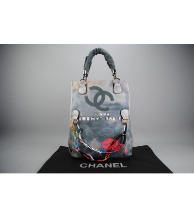 CHANEL GRAFFITI FOLDAWAY TOTE BAG