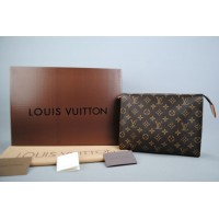 LOUIS VUITTON TOILETRY POUCH %100 hakiki vejital deri