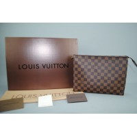 LOUIS VUITTON DAMIER CANVAS TOILETRY POUCH %100 hakiki vejital deri