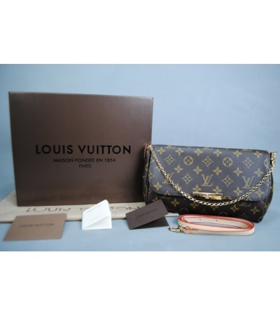 LOUIS VUITTON MONOGRAM CANVAS FAVORITE %100 hakiki vejital deri