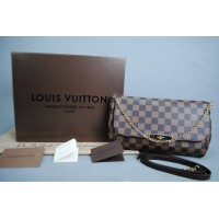 LOUIS VUITTON DAMIER CANVAS FAVORITE %100 hakiki vejital deri