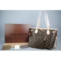 LOUIS VUITTON MONOGRAM CANVAS NEVERFULL PM VEJITAL DERI MINI BOY