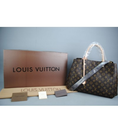 LOUIS VUITTON MONOGRAM CANVAS MONTAIGNE GM VEJITAL DERI