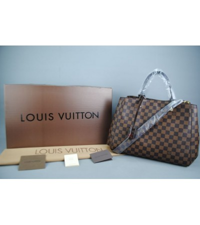 LOUIS VUITTON DAMIER CANVAS MONTAIGNE GM VEJITAL DERI