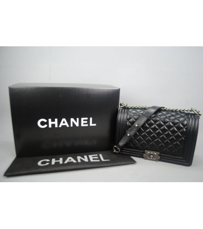 CHANEL BOY BAYAN ÇANTA MEDIUM %100 hakiki deri