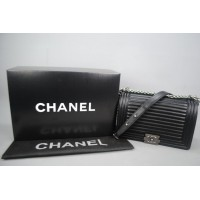 CHANEL BOY HORIZONTAL QUILTING MEDIUM %100 hakiki deri