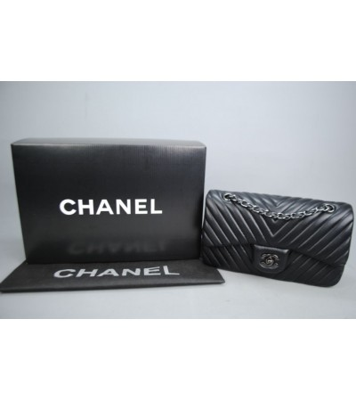 CHANEL CHEVRON FLAP BAG 2,55 ORTA BOY %100 hakiki deri