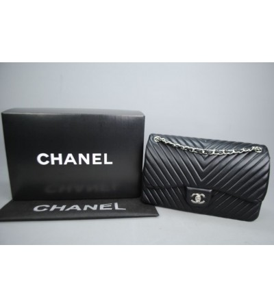 CHANEL CHEVRON FLAP BAG 3,55 BÜYÜK BOY %100 hakiki deri
