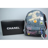 CHANEL FEMINIST BACKPACK GRAFFITI SIRT ÇANTASI