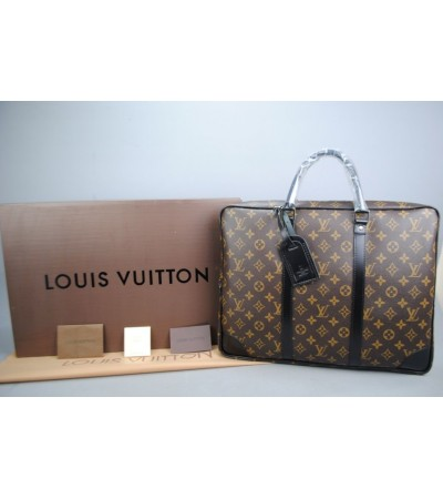 LOUIS VUITTON DAMIER CANVAS PORTE-DOCUMENTS VOYAGE %100 HAKIKI DERI
