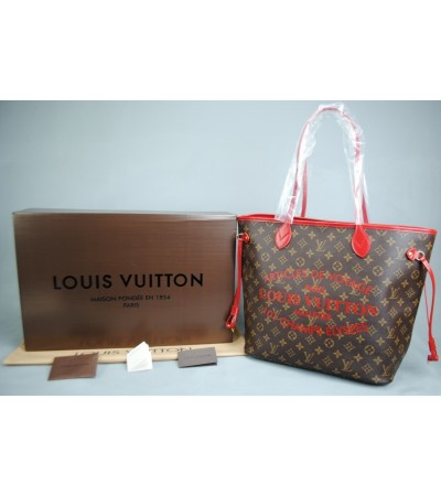 LOUIS VUITTON ARTİCLE DE VOYAGE NEVERFULL MM ORTA BOY VEJITAL DERI