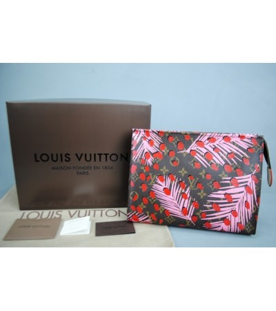 LOUIS VUITTON JUNGLE CLASSİC MONOGRAM TOİLETRY POUCH %100 HAKİKİ DERİ
