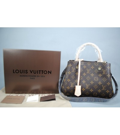 LOUIS VUITTON MONOGRAM CANVAS MONTAIGNE PM MİNİ BOY VEJITAL DERI