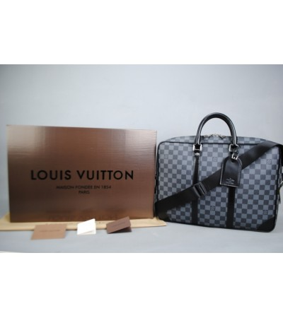 LOUIS VUITTON DAMİER GRAPHİTE PORTE-DOCUMENTS VOYAGE %100 HAKIKI DERI