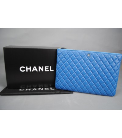 CHANEL %100 HAKİKİ DERİ O'CASE CLUTCH