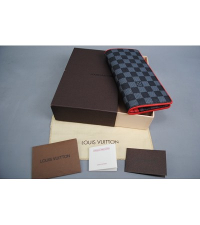 LOUIS VUITTON BRAZZA WALLET HAKIKI DERI KIRMIZI